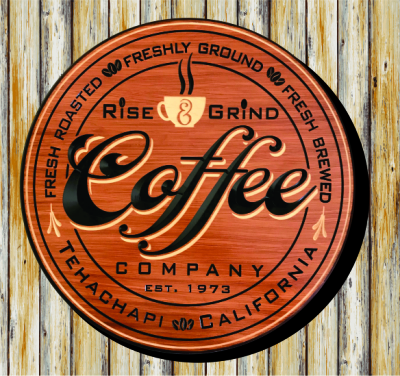 Personalized with Red Oak Stain, V-Carved and Flat Carved Black & Natural Lettering and Artwork.